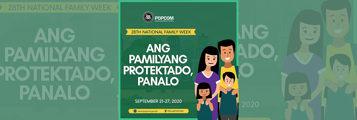 28th national family week 2020 banner
